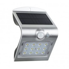 APPLIQUE SOLAR LED ARCADIA 1.5 SILVER - 1,5W - 4000K - 200Lm - IP65 - Color Box