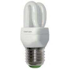 LAMP.CLASSICA CFL MICRO 2 TUBI - 3W - E27 - 2700K - 160Lm - IP20 - Color Box
