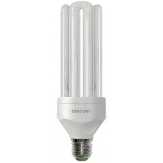 LAMP.CLASSICA CFL QUADRA 3 TUBI - 23W - E27 - 2700K - 1370Lm - IP20 - Color Box