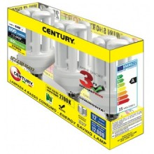 LAMP.CLASSICA CFL MINI 4 TUBI - 15W - E14 - 2700K - 800Lm - IP20 - Family Box 3 pz.